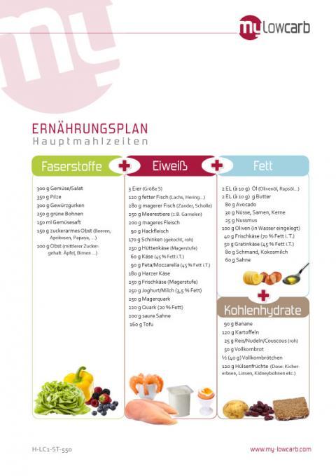 ernährungsplan low carb abnehmen